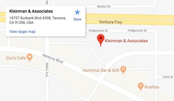 Kleinman & Associates 18757 Burbank Boulevard, Suite 308, Tarzana, CA 91356